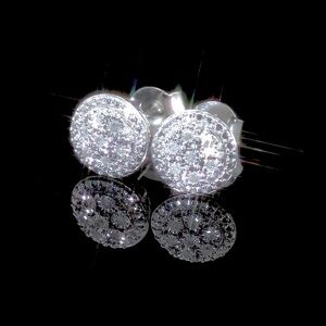 REAL Diamond Cluster Stud Earrings 1/10 ct. t.w.